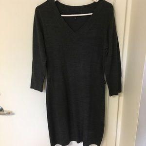 Dark Gray/Charcoal Sweater Dress, Size large